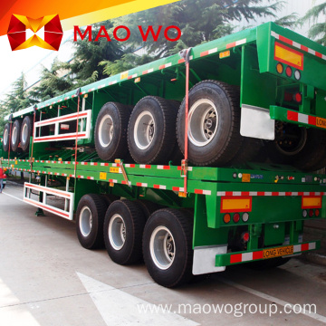 3axles 40ft Semi Truck Flatbed Trailer for Sale